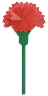 カーネーション折り紙