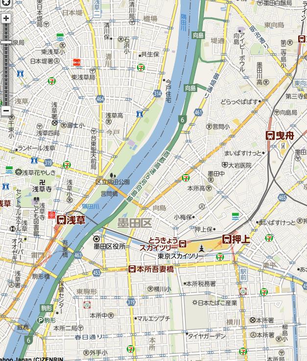 おすすめスポット地図